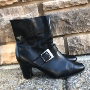 Predictions, black ankle boots